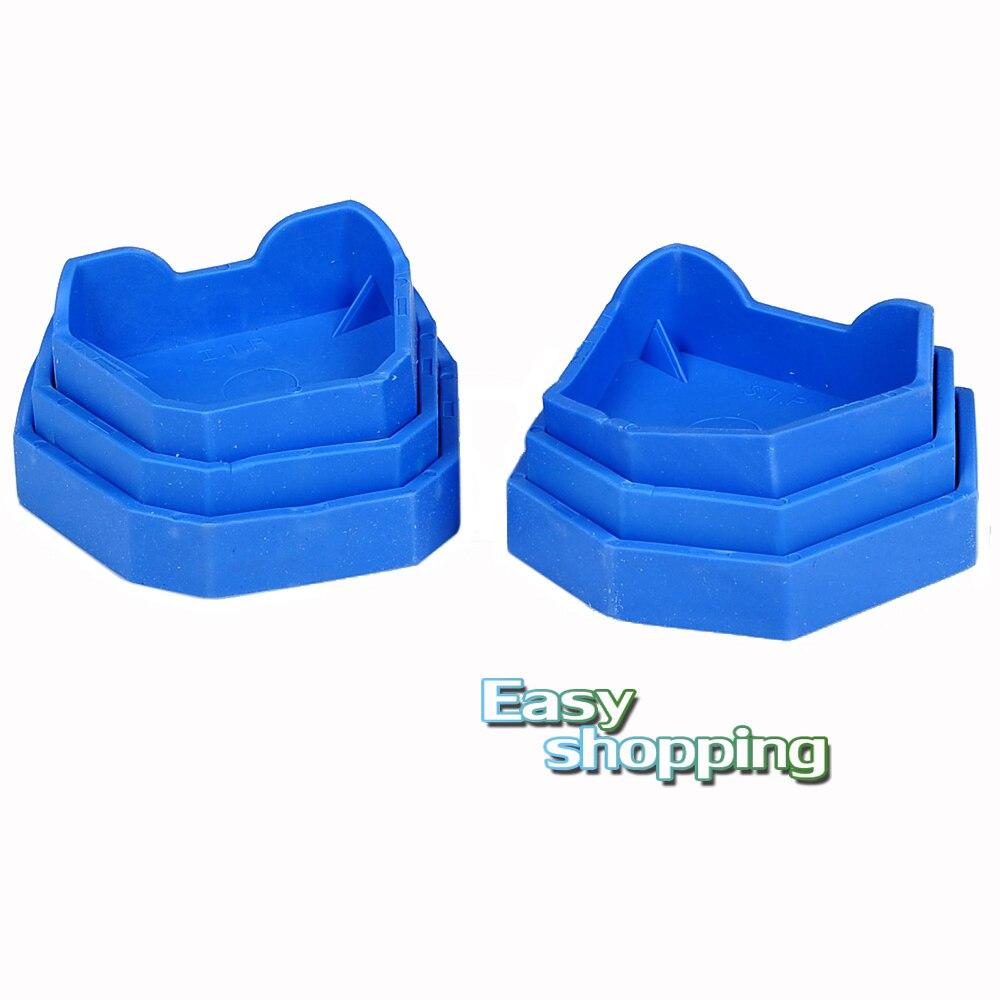 1 KIT/6PCS Dental Lab Model Former Base Molds Types Blue Color-in ...