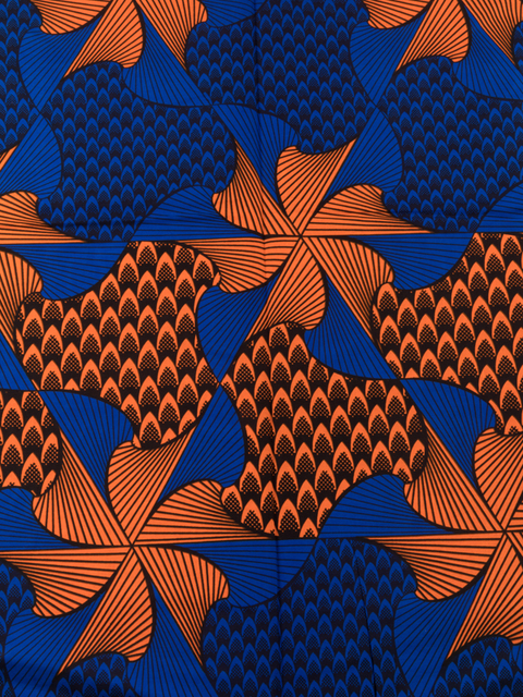 African Designs Patterns Real Wax Blue Orange Windmill Designs 40 Unique African Patterns