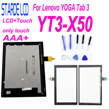 STARDE Replacement LCD 10.1 inch For Lenovo YOGA Tab 3 YT3-X50 YT3-X50F YT3-X50M LCD Display Touch Screen Digitizer Assembly 13 3 lcd display for lenovo yoga 900 13isk 80mk lcd touch screen digitizer assembly with bezel