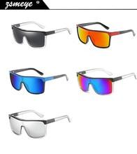 a8779980f6bbd UV400 ZSMEYE oversize Escudo Flynn Óculos De Sol Dos Homens de alta  qualidade Óculos de proteção Óculos Mulheres Vintage Big-tam.