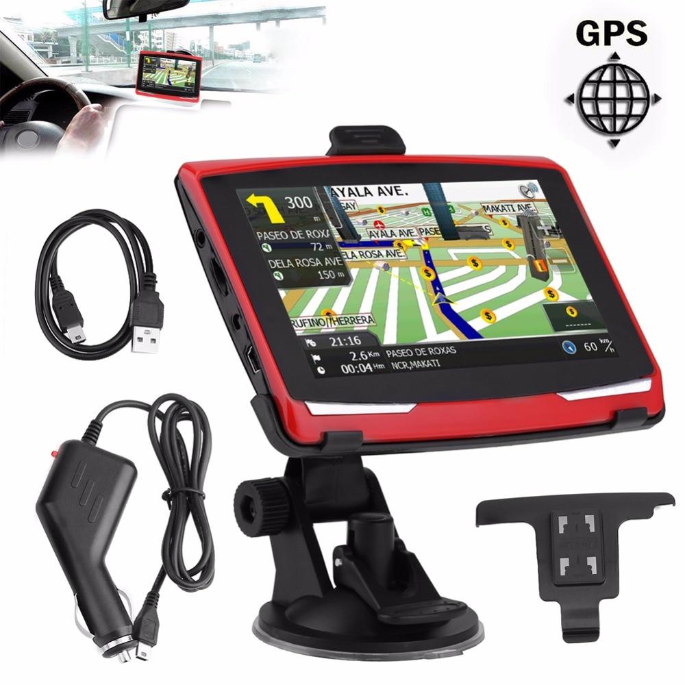 5 inch Car GPS Navigation HD480*272 Sat Nav 128M 8GB Car Truck Navigation SAT NAV GPS Navigator FM with Free Map