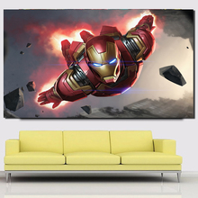 Ironman Hero Marveles Illustration Art Canvas Painting Prints Bedroom Home Decoration Modern Wall Posters Artwork