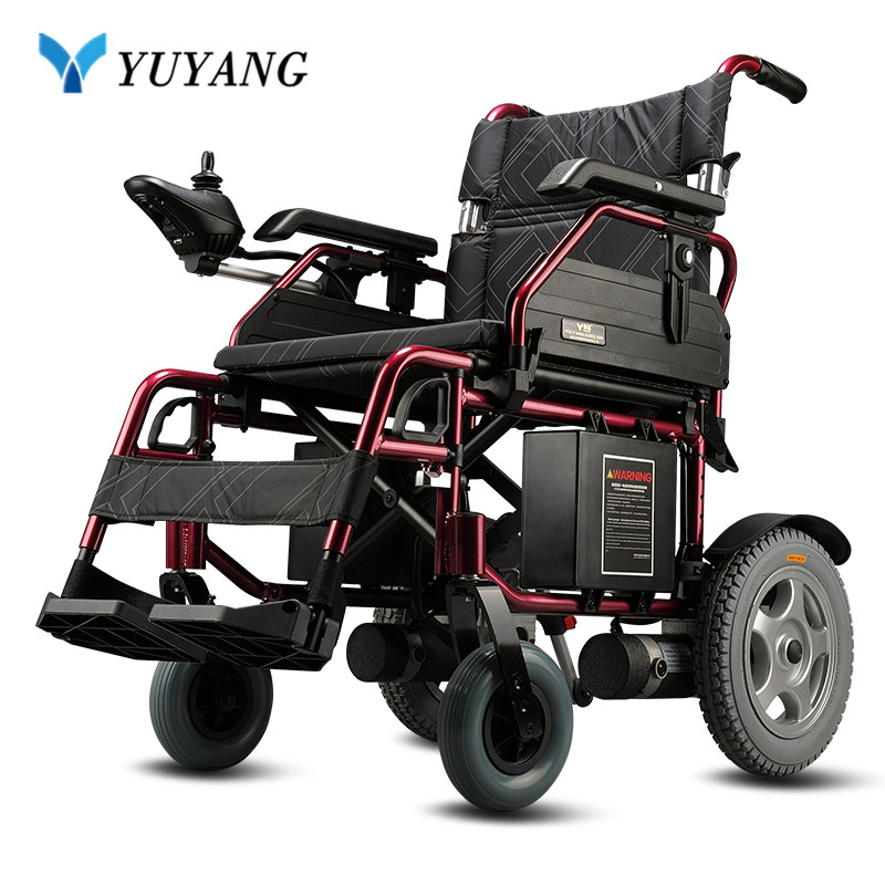 FoldLite Electric Wheelchair Power Deluxe Foldable Compact Mobility Aid Lightweight Wheelchair Longest Driving Range Heavy Duty
