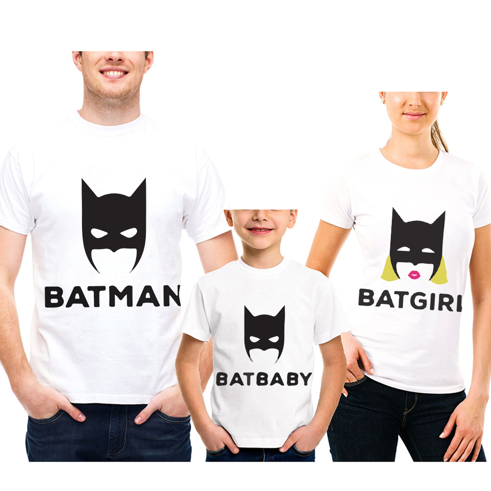 Batman, Father, Short, Fashion, Matching, T-Shirt