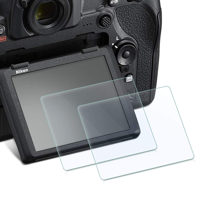 Pantalla de cristal templado película HD Protector para Nikon D750/D7100 D7200 D800 D800e D810 D750 D600 D610 D500 (2 paquetes) 9 H