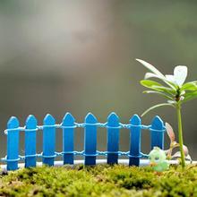 2PCS/lot Figurines Miniatures fence Crafts Bonsai garden small ornament Landscape decoration Mini Log fence doll 10cm 10 color