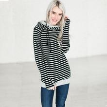 sweatshirts ladies autumn women hoodies winter 2019 striped holiday sports elegance clothing  clothes cotton