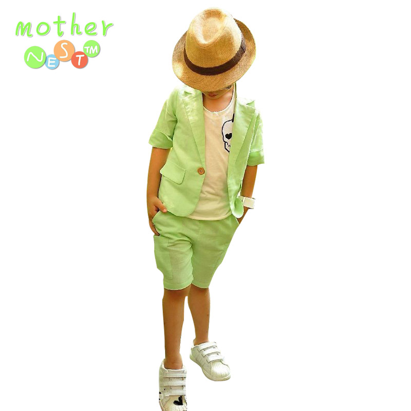 Retail Summer Children Clothing Set Korean style boys suit baby& kids clothes set coat+pants 2 pcs outfits children wear