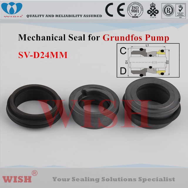 US $76 0 |24MM Grundfos type SV (D)mechanical seal SE ,SV series  submersible pumps-in Seals from Automobiles & Motorcycles on Aliexpress com  | Alibaba