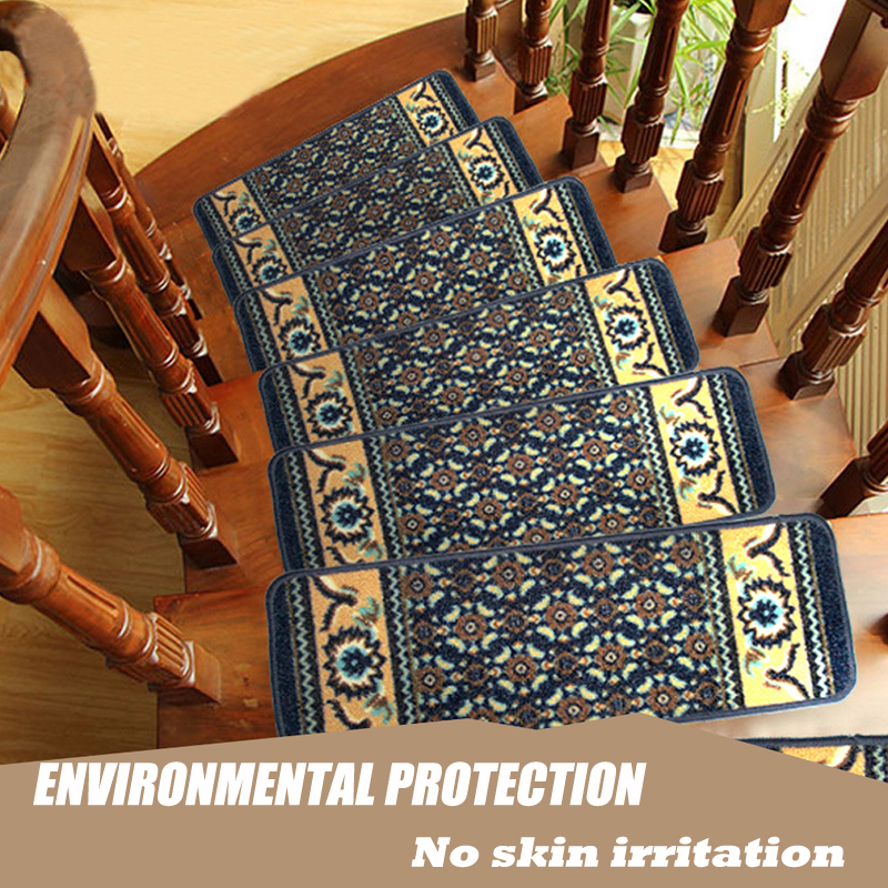EHOMEBUY Carpet 1 Piece No Glue Washable Stair Mats Luxury Romance Sound Absorption Comfortable Soft Environmental Protection