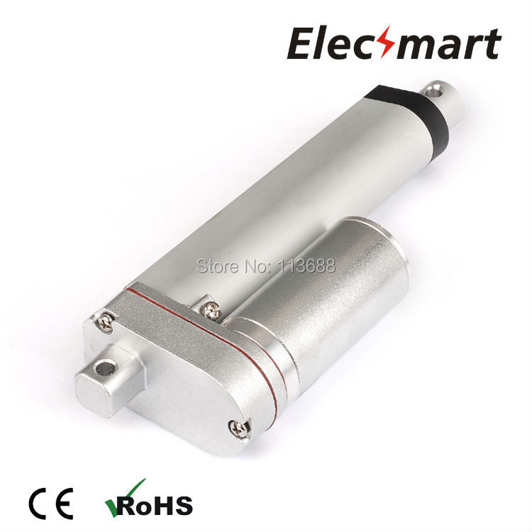 DC24V 100mm/4in Stroke 600N/135Lbf Load Force 15mm/s No-Load Speed Linear Actuator
