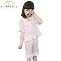 Summer Brand Baby Girls Lacework Pajamas Sets Princess Pyjamas Kids Pajama Infantil Sleepwear Home Clothing Nightgown