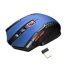 2.4G Wireless Mouse 6 Buttons Professional Optical Mouse Adjustable 2400DPI Wireless Gaming Mouse Gamer Mouse Mice For PC Laptop