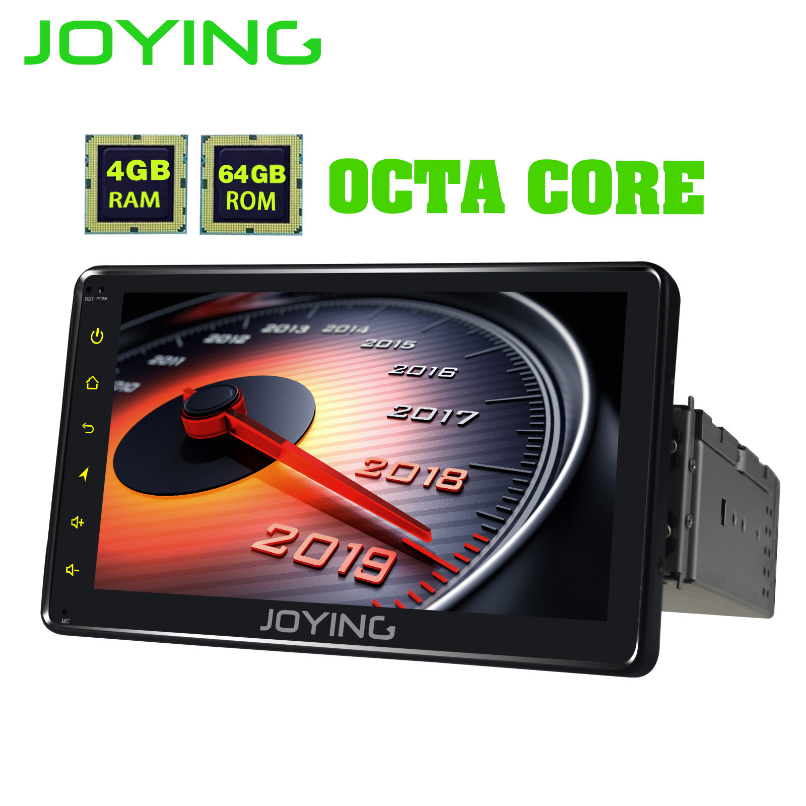 JOYING simple 1 DIN Android 8.1 universel autoradio Octa Core unité de Navigation GPS 4 GB + 64 GB DSP support 4G HD écran