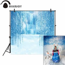 Allenjoy photography backdrop winter snow frozen fairy tale waterfall background photobooth prop studio photocall new fabric allenjoy photophone background photography studio fantasy halloween magic window fire basin fairy tale backdrop palace photocall