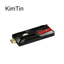 Più recente KimTin RK3229 Quad core A9 Mini PC TV Dongle 2GB DDR3 16GB ROM Android 7.1 Bluetooth 2.4G Wifi 4k H.265 Google TV BOX