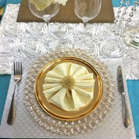Fancy Design Charger Plate for Wedding Event Decoration Gold Silver Dinner Plates Table Setting Party Supplies