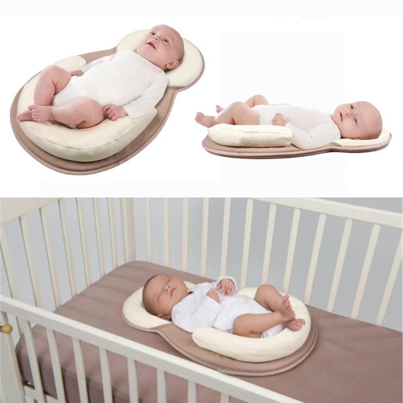 Portable Baby Pillow Crib Nursery Travel Folding Baby Bed Mattress Infant Toddler Cradle Multifunction Storage Bag For Baby Care