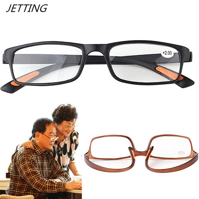 Unisex Resin Framed Reading Glasses +1.00 1.50 2.00 2.50 3.00 3.50 4.00 Diopter Black Dark Brown