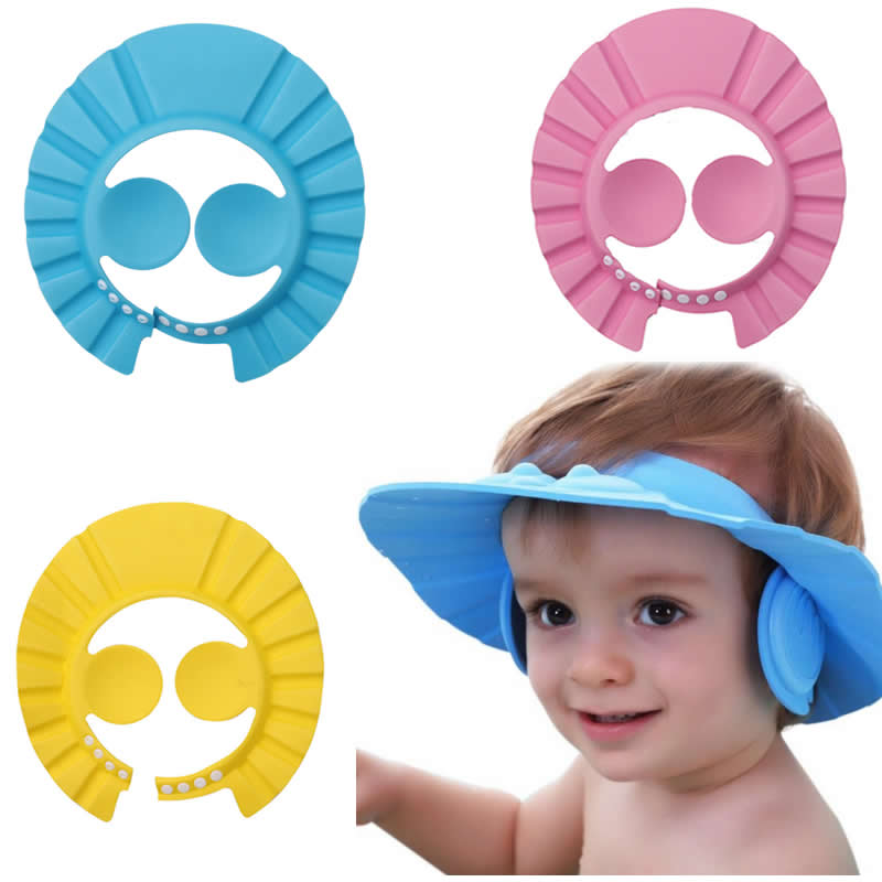 Hot Sale Adjustable Baby Shower Cap Protect Shampoo Kids Bath Visor Hat Hair Wash Shield For Children Infant beikinyuans