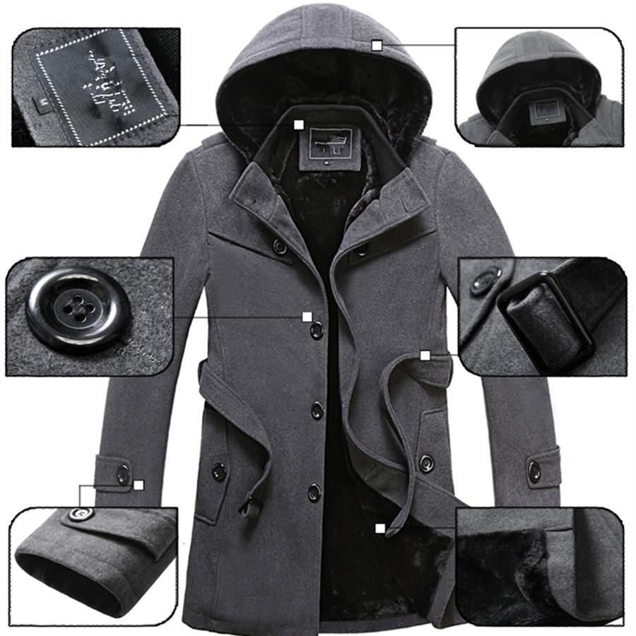 2019 Winter Trench Coat Men Fashion Long Overcoat men Hot Sale Woollen Coat Thick Men's Clothing Size 4XL Wool Jackets 5