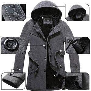 Image 5 - 2020 inverno Trench E Impermeabili Cappotto Degli Uomini di Modo Lungo Cappotto Maschio di Vendita Calda di Lana ootwear Abbigliamento da Uomo di Spessore Formato 4XL di Lana giubbotti