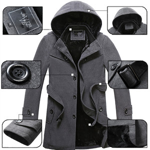 Image 5 - Gabardina gruesa de lana para hombre, abrigo largo a la moda, gran oferta, para invierno, talla 4XL, 2020
