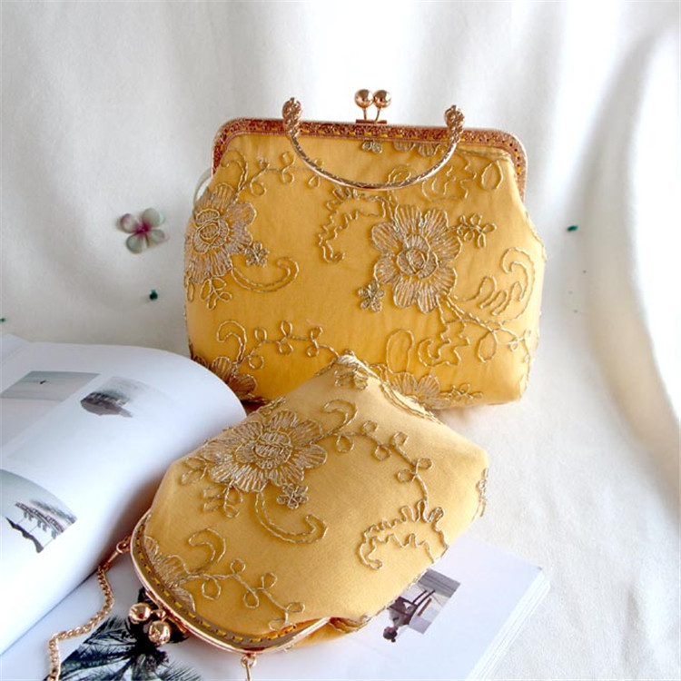 RUBIHOME Handmade DIY Crafts Material for Women Clutch Purse Frame Banquet Wedding Party Chain Phone Bags(no finished)