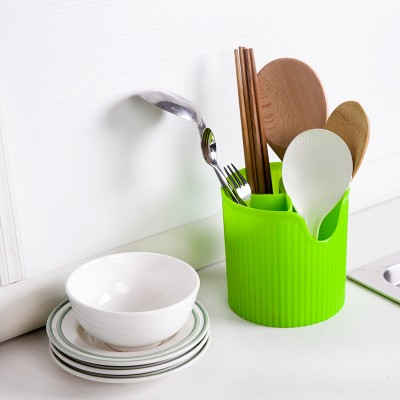 Plastic cylinder barrel and colorful kitchen drop four chopsticks tableware cage knife and fork frame received barrel 12 12cm in Storage Boxes Bins from Home Garden