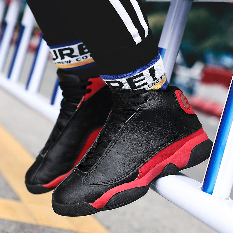 Boys Men Basketball Shoes 2019 New Brand Kids Sneakers Outdoor Big Kids Non slip Sports Shoes Footwear Jordan Shoes Basket Sport in Basketball Shoes from Sports Entertainment