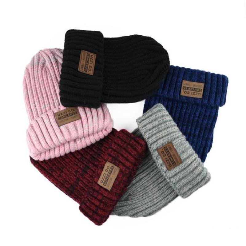 Neue Jahr Solide Hut Weibliche 2018 Weihnachten Mode Baumwolle Frauen Winter hut 5 Farbe Stricken Hüte Für Frauen Skullies & Mützen Heißer verkaufen