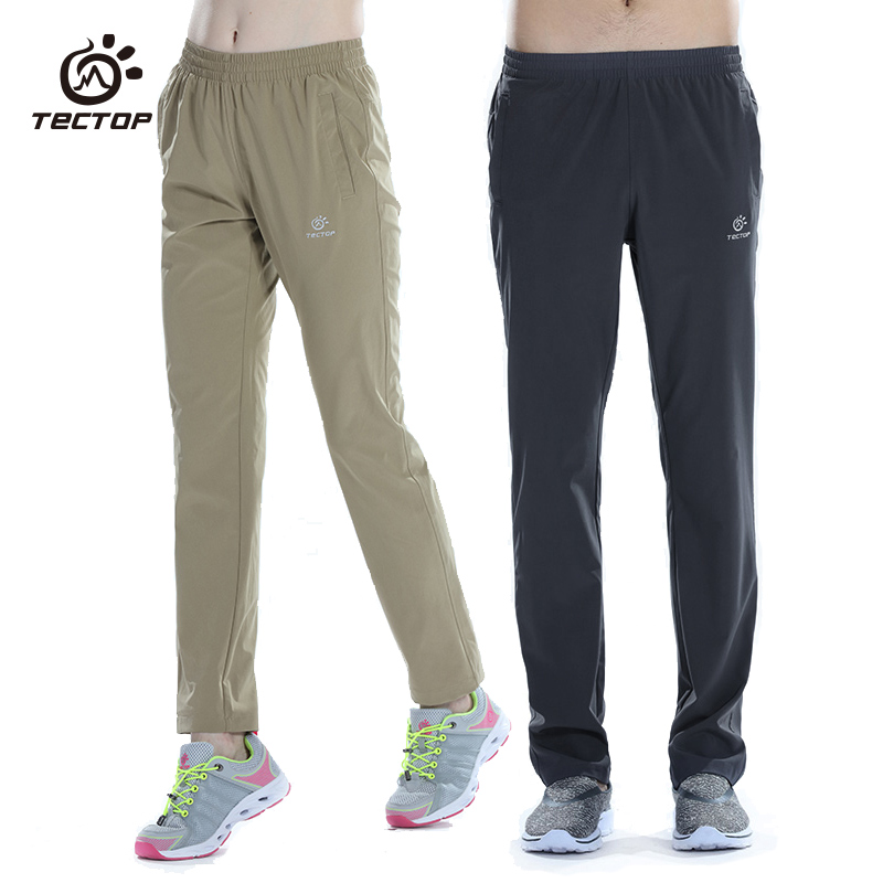 Tectop Men Women Quick Drying High Elastic Pants Outdoor Trousers
