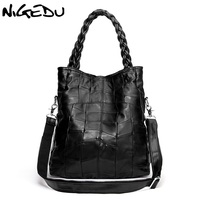 Genuine Leather Women Handbag Lambskin Women S Messenger Bags Real Sheepskin Big Bag Patchwork Shoulder Bag