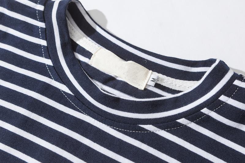 Dark Icon Rose Embroidery Striped Mens T-shirt Short Sleeve 19 Summer Hi-street Oversized Hip Hop Tshirt Cotton Tee Shirts 15