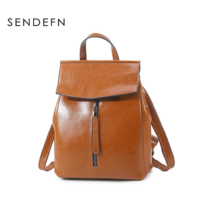 Women Backpack High Quality Genuine Leather Mochila Escolar School Bags For Teenagers Girls Top handle Backpacks