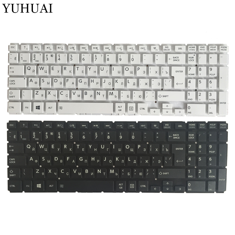 New Russian Laptop Keyboard For Toshiba Satellite L50-B L55-B L55DT-B S50-B S55-B Black/white RU Keyboard