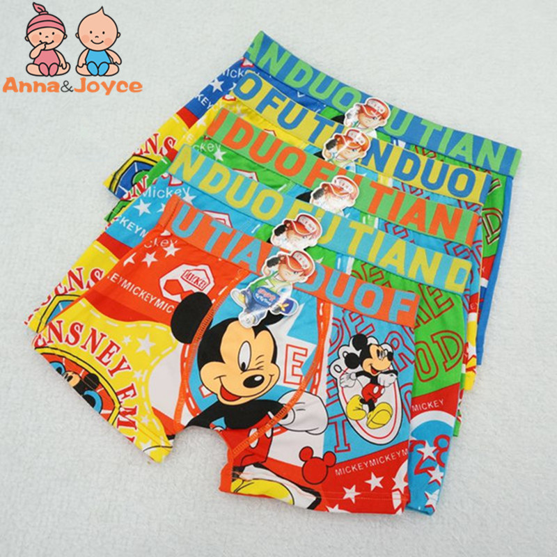 5pcs/lot Children's Boxer Kids Underwear  Boys Boxer Panties Cartoon  Boy Underpants