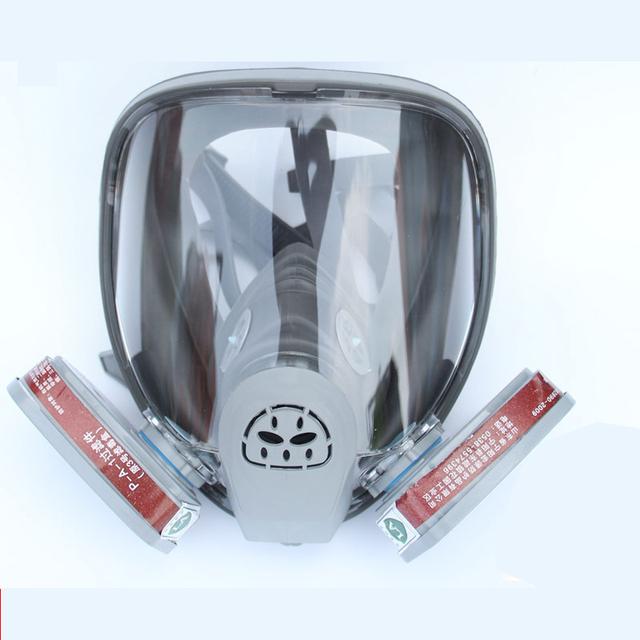 Silicona Máscara De Gas Con Dos N ° 3 para Vapores Orgánicos, Cartucho de vapor Antivirus Anti-vaho Careta Respirador Máscara de Polvo de Pintura Aerosol