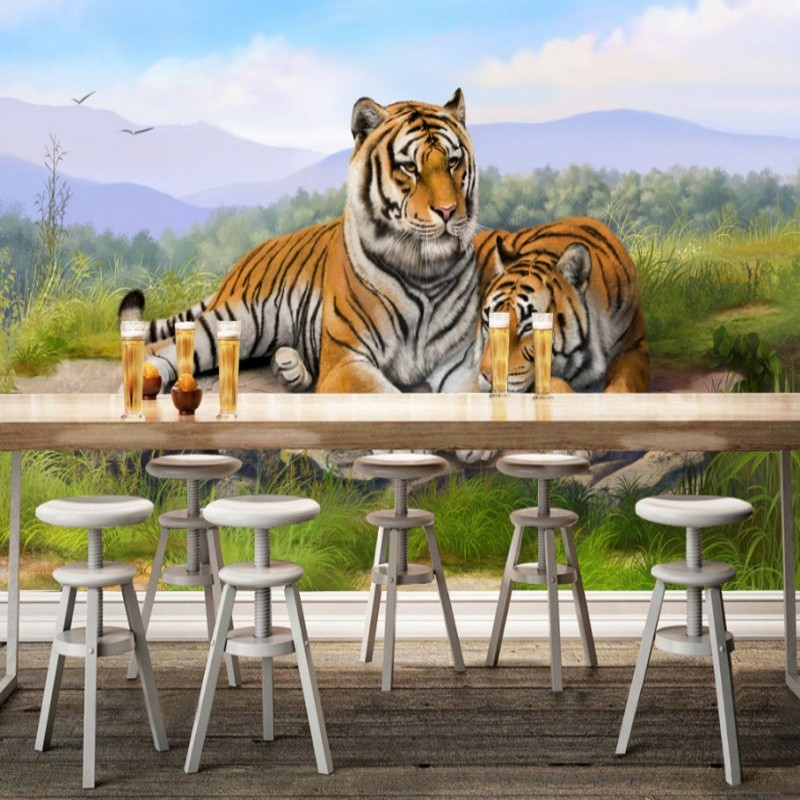 Modern Style 3D Lifelike Animal Tiger Wallpaper For Living Room Sofa TV Backdrop Customized Mural Wall Paper For Walls modern simple romantic snow large mural wallpaper for living room bedroom wallpaper painting tv backdrop 3d wallpaper
