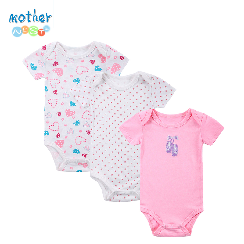 100% Cotton Baby Bodysuit 3pieces/lot Newborn Cotton Body Baby Short Sleeve Underwear Infant Boy Girl Pajamas Clothes