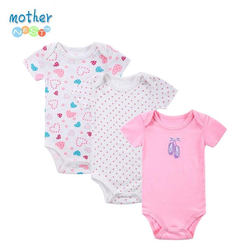 100% Baumwolle Baby Body 3 Teile/los Neugeborenen Baumwolle Körper Baby Kurzarm Unterwäsche Infant Junge Mädchen Pyjamas Kleidung Geschickte Herstellung