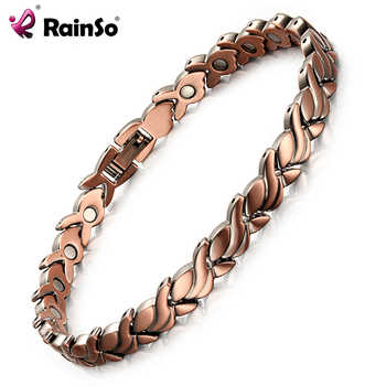 RainSo Fashion Red Copper Magnetic Bio Energy Bracelets & Bangles for Women Healing Magnet Bracelet Female Jewelry OCB-1551 2020 - DISCOUNT ITEM  39 OFF Jewelry & Accessories