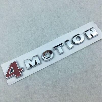 1X4 MOTION 4 движения красный и Chrome заднего эмблема наклейка для PASSAT Touareg Гольф Поло Tiguan Jetta багажнике Магистральные знак Sticke