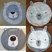 Cartoon Animals Lion Bear Rabbit Face Baby Play Mats Crawling Rug Carpet Blanket Pad Nordic Kids