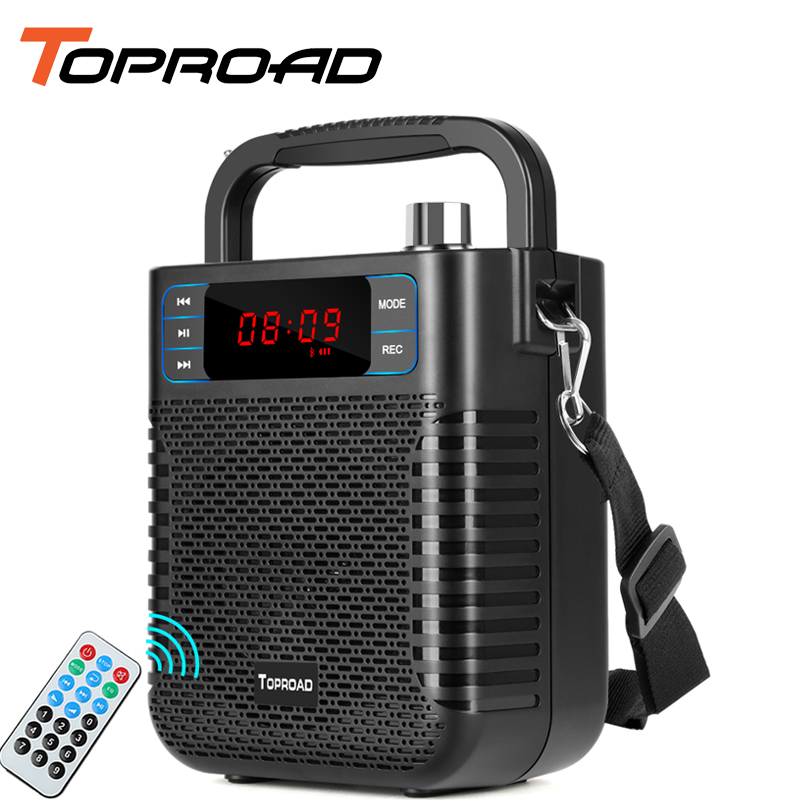 TOPROAD Portable Bluetooth Speaker Wireless Stereo Heavy Bass Speaker Soundbar Support Remote Control FM Radio TF