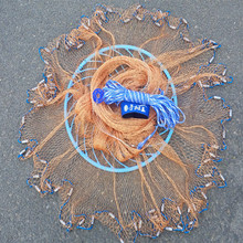 3m American Fishing Net,easy Cast Net,lead Sinkers Frisbee Net,tire Line Rotary Screen Fishing Network Cast Net Fishing