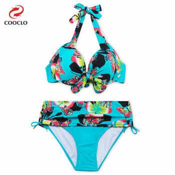 COOCLO 2019 Large Size Bikinis Set Russia Women Swimsuit Floral Print Plus Size Bikini Sexy Biquinis Women Vintage Swimwear 7XL - Category 🛒 Sports & Entertainment