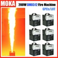 6 Pcs/lot Hot stage fire flame machine dmx512 control artificial flame projector outdoor fire machine nightclub dj Equipment