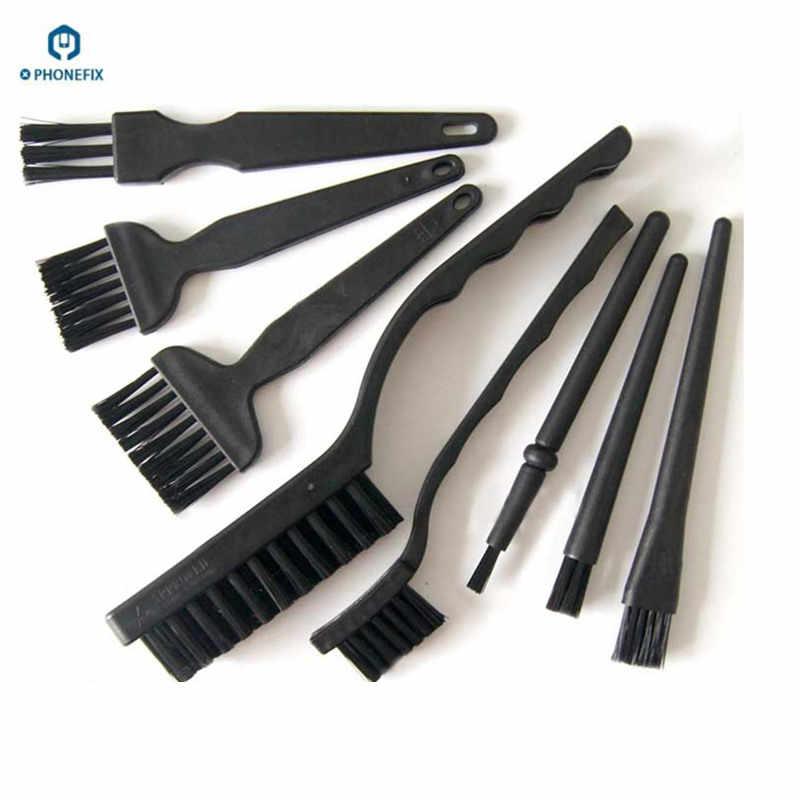 Cepillos de reparación de teléfono placa de circuito antiestático cepillos de limpieza PCB pasta de soldadura cepillos de flujo de soldadura