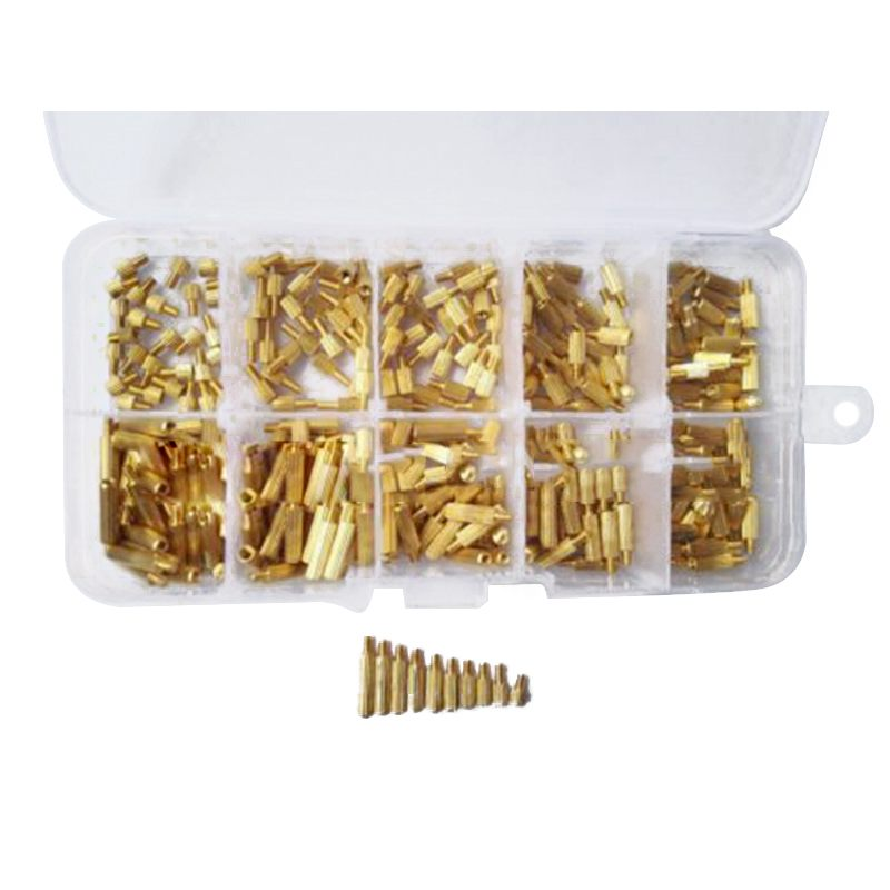 300pcs M2 Male x Female Long Screw Bolt Brass Standoff Spacer Assortment Set M2x3mm/4mm/5mm/6mm/7mm/8mm/9mm/10mm/11mm/12mm tamiya cc01 op upgrade metal bearing 15mm 10mm 4mm 11mm 5mm 4mm